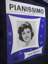 VINTAGE ORIGINAL SHEET MUSIC PIANISSIMO RUBY MURRAY 1961 PETER MAURICE